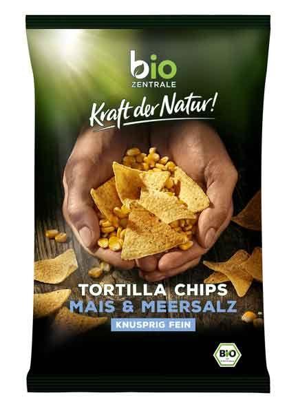biozentrale Tortilla Chips Mais & Meersalz bio 125g