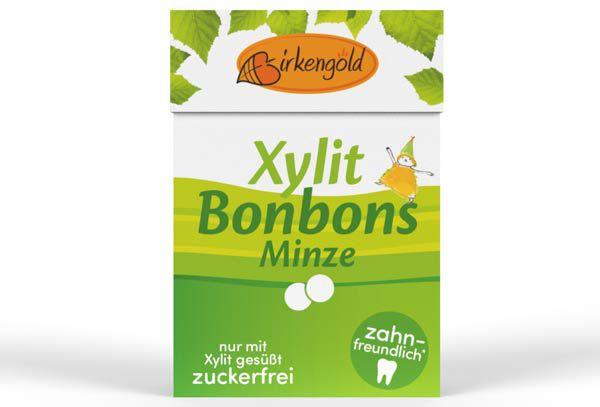Birkengold Xylit Bonbons Minze