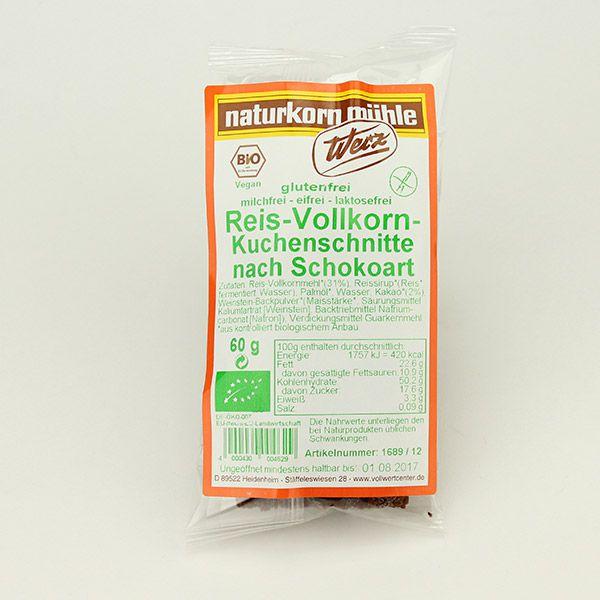 Werz Reis-Vollkorn-Schoko-Kuchenschnitte