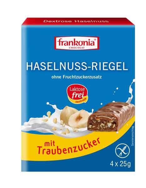 Frankonia Dextrose Haselnuss-Riegel