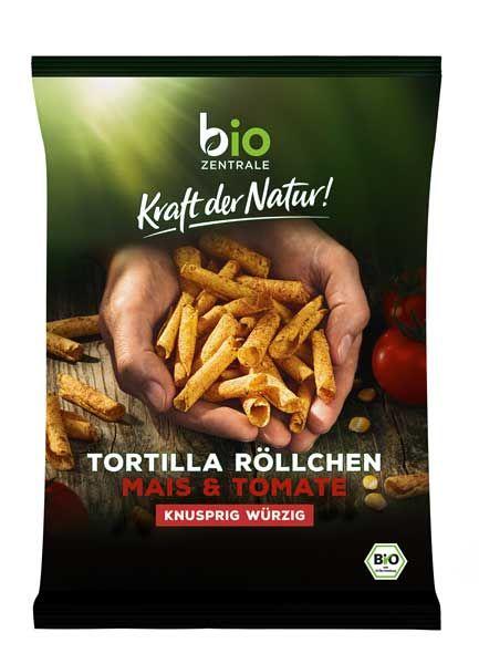 biozentrale Tortilla Röllchen Mais & Tomate bio 125g