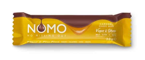 NOMO Veganer Schokoriegel Caramel Choc 38g
