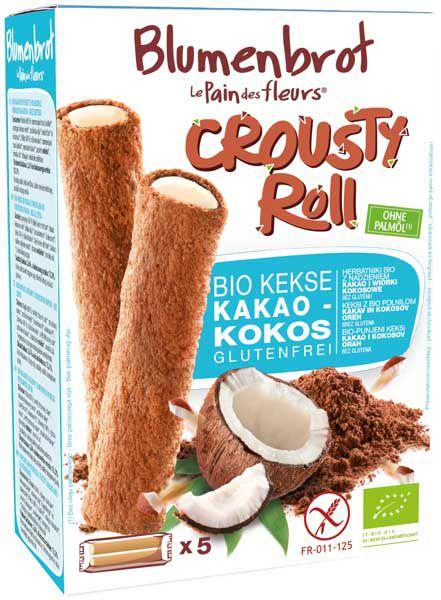 Blumenbrot Crousty Roll Kakao-Kokos