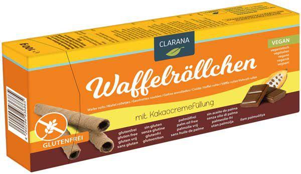 Waffelröllchen Kakao glutenfrei